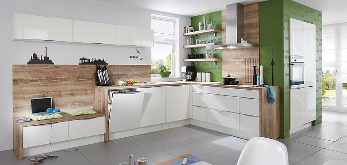 FOCUS 462, Magnolia Ultra-Hochglanz (Moderne Küchen ...