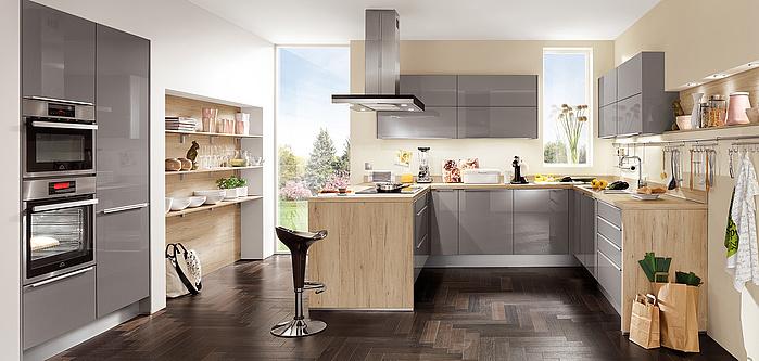 FOCUS 462, Magnolia Ultra-Hochglanz (Moderne Küchen) | nobilia Küchen