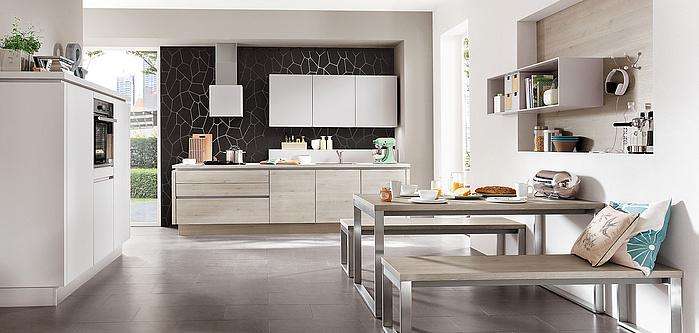 Die grifflose Küche LINE N vom Top-Küchenhersteller | nobilia Küchen