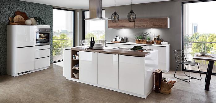 FLASH 452, Magnolia Hochglanz (Moderne Küchen) | nobilia Küchen