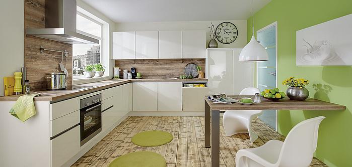 Lux 814 Weiss Hochglanz Moderne Kuchen Nobilia Kuchen
