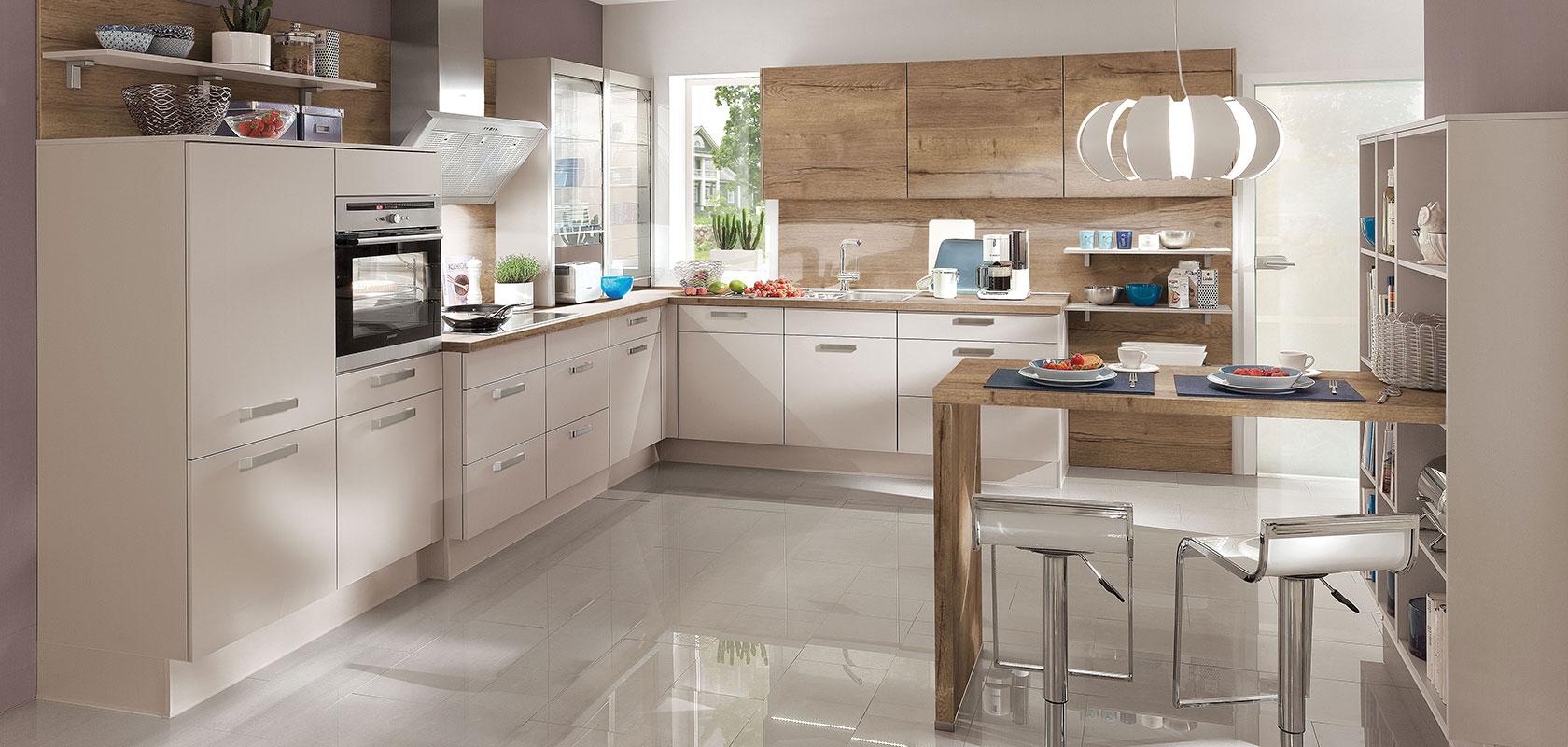 Classic küchen  LASER 415, Sand (modern classic) | nobilia Küchen