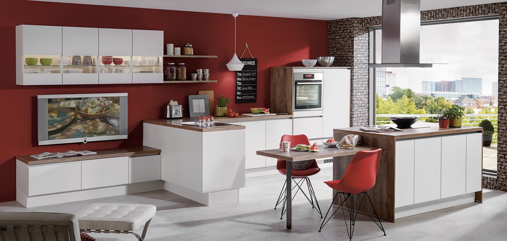 LASER 416, White, LINE N (handleless) (modern kitchens) | nobilia ...