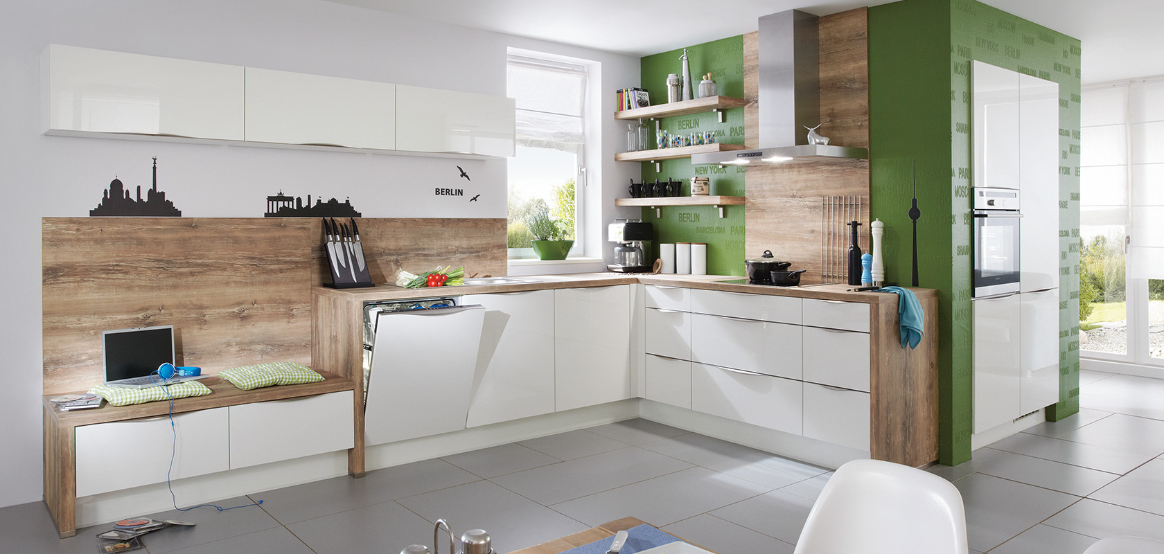 Focus 460 White Ultra High Gloss Modern Kitchens Nobilia Kuchen