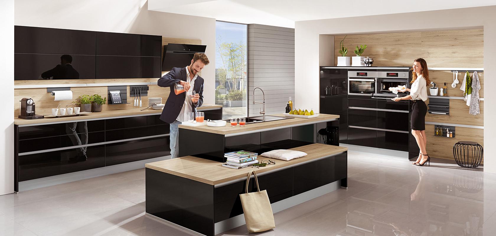 FOCUS 472, negro brillo ultraintenso (cocinas de diseño, LINE N (sin ...