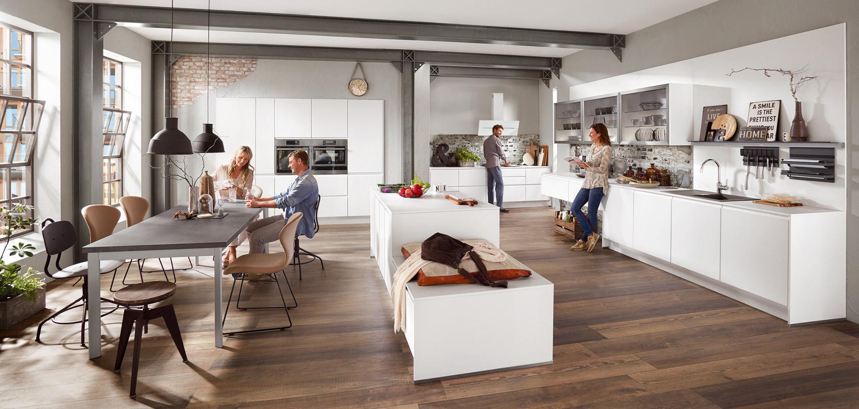 INLINE 551, Alpine white matt, (designer kitchens, LINE N ...