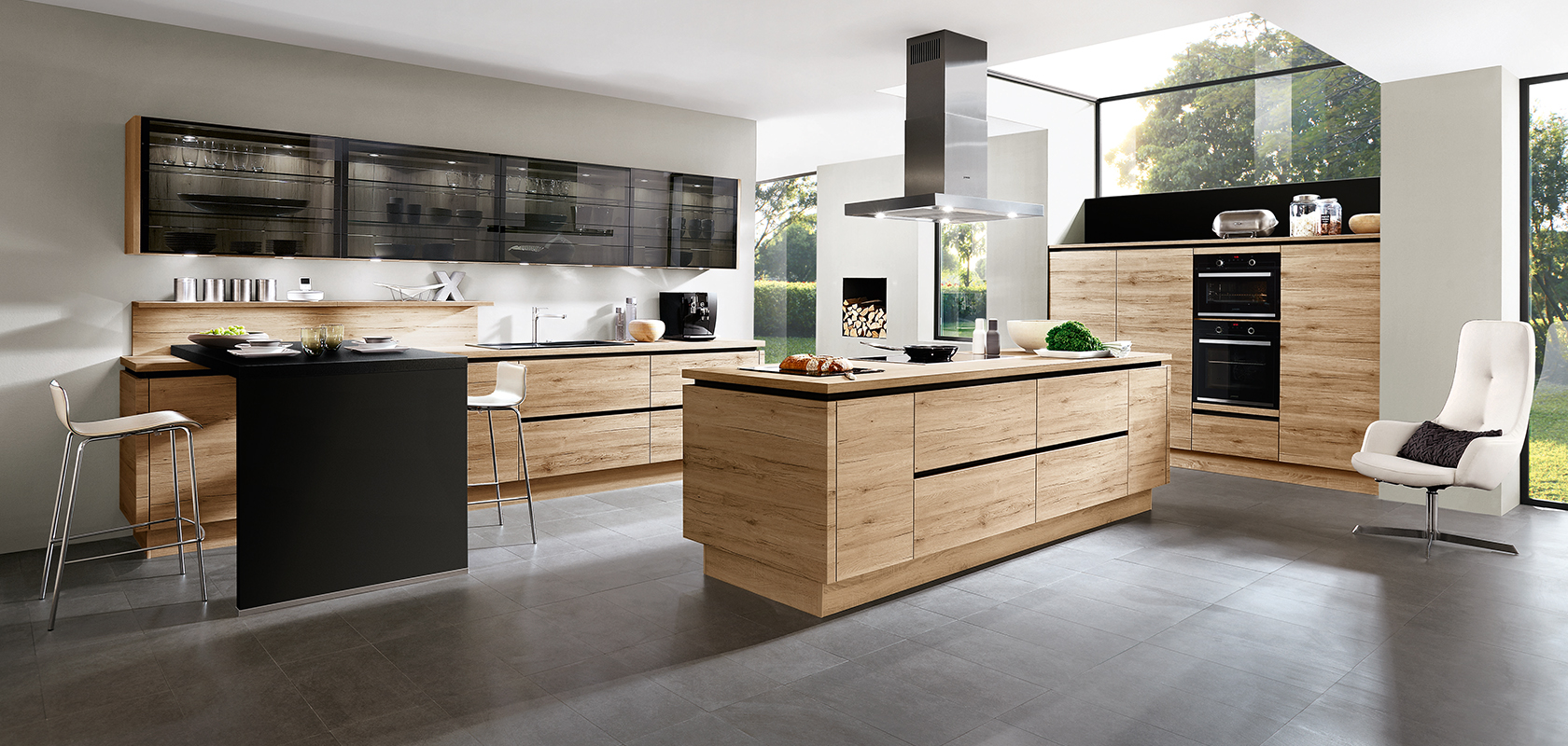 RIVA 893, Sanremo oak reproduction, (natural living, LINE N ... | {Dan küchen living 12}