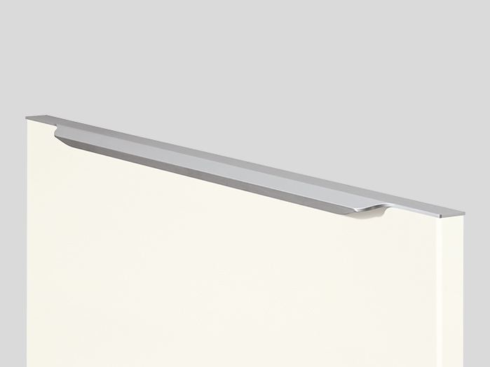 550 Bar handle, Stainless steel finish