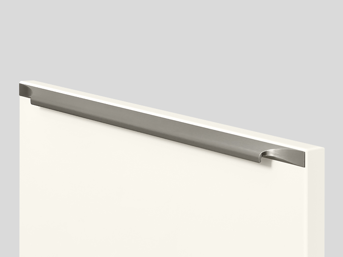 960 Screw-on bar handle, Stainless steel finish