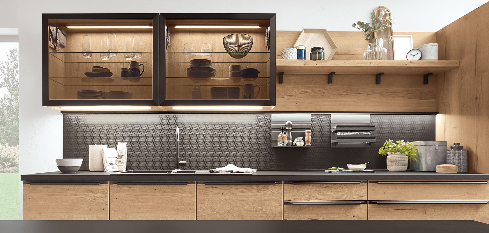 Ideas and individualised recess design for your nobilia kitchen.