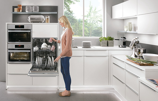 Ergonomic working heights from nobilia kitchens.
