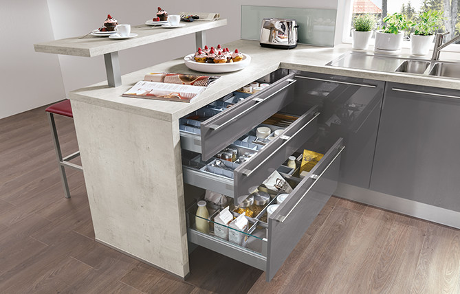 Intelligent ideas for storage – storage space solutions by nobilia kitchens.