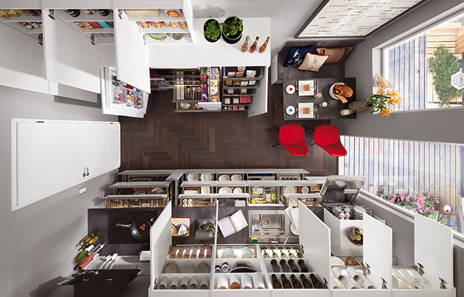 Storage space wonder – nobilia kitchen.