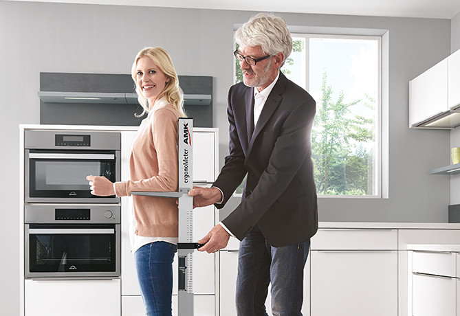 Determine the right working height with nobilia kitchens.