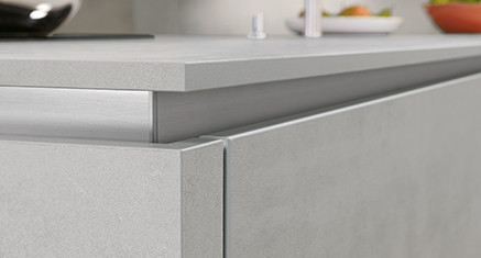 Slim Line worktop by nobilia, 16 mm thick.