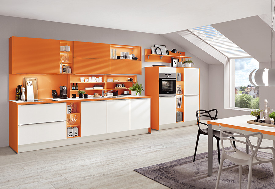 Le coloris Color Concept nobilia - Orange.