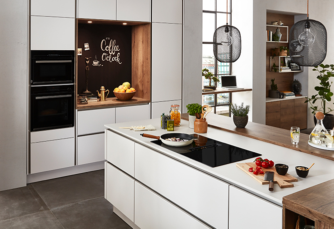 The handleless kitchen by nobilia.