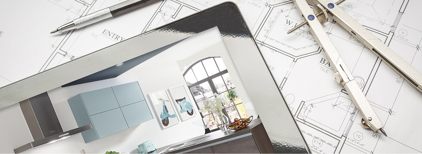 Planning a kitchen on an iPad