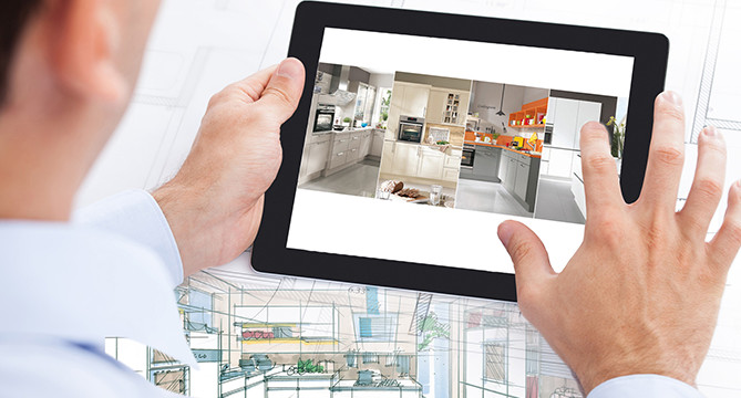 Planning a nobilia kitchen using a tablet
