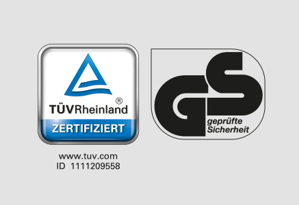 Tested for safety TüV Rheinland