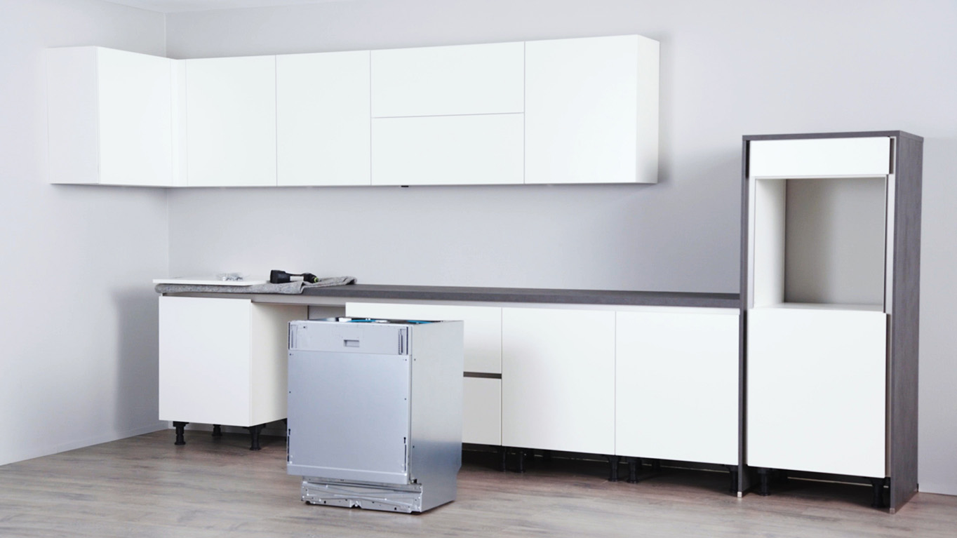 montagevideo line n geschirrsp ler nobilia k chen. Black Bedroom Furniture Sets. Home Design Ideas